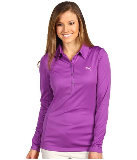 Tricouri PUMA - Golf Long Sleeve Polo Shirt \13 - Bright Violet