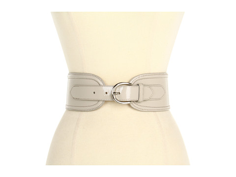 Curele Lodis Accessories - Del Rey Wide High Waist Belt w/ Elastic - Oyster