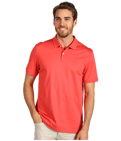 Tricouri Calvin Klein - Liquid Cotton S/S 2 Button Polo - Corelli