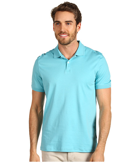 Tricouri Calvin Klein - Liquid Cotton S/S 2 Button Polo - Tahoe