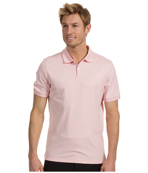 Tricouri Calvin Klein - Liquid Cotton S/S 2 Button Polo - Pale Rose