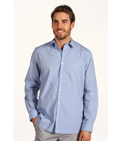 Tricouri Calvin Klein - L/S YD Geo Print Shirt - Cashmere Blue