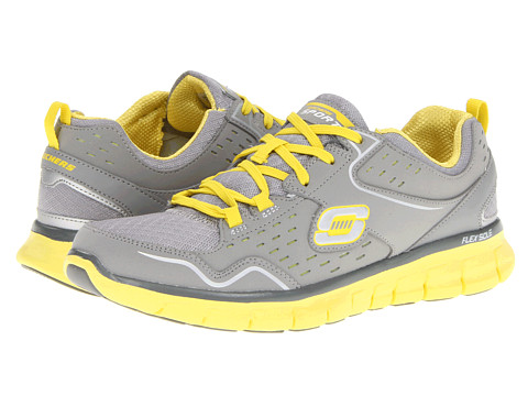 Adidasi SKECHERS - Synergy - A Lister - Gray/Yellow