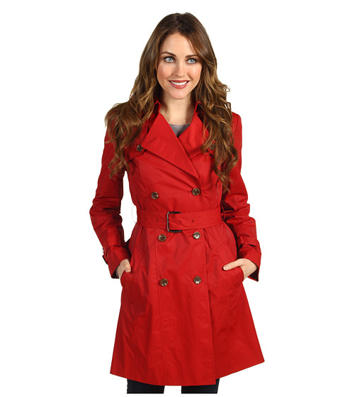 Jachete Cole Haan - Classic Cotton Rain Trench - Red