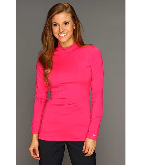 Bluze Nike - Nike Pro L/S Mock Neck - Pink Force