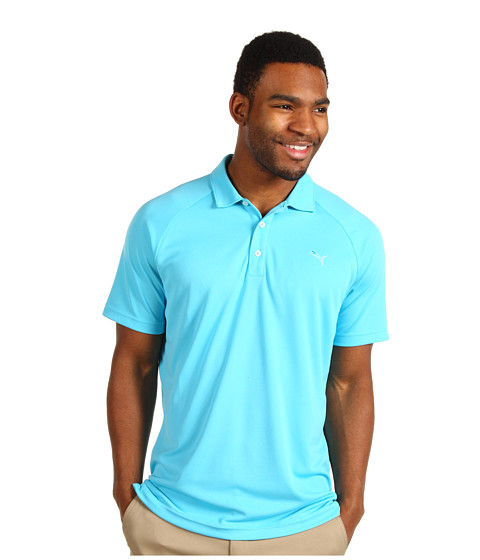 Tricouri PUMA - Golf Raglan Tech Chest Logo Polo ââ¬Ë13 - Blue Atoll