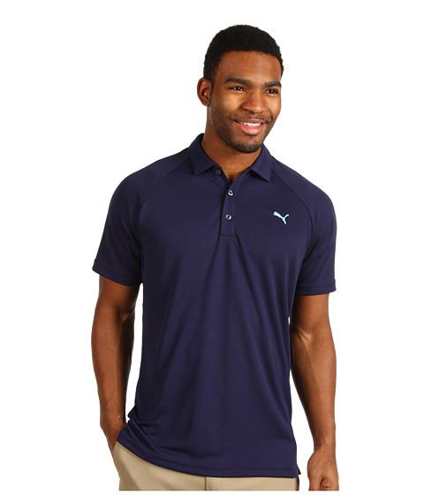 Tricouri PUMA - Golf Raglan Tech Chest Logo Polo ââ¬Ë13 - Evening Blue