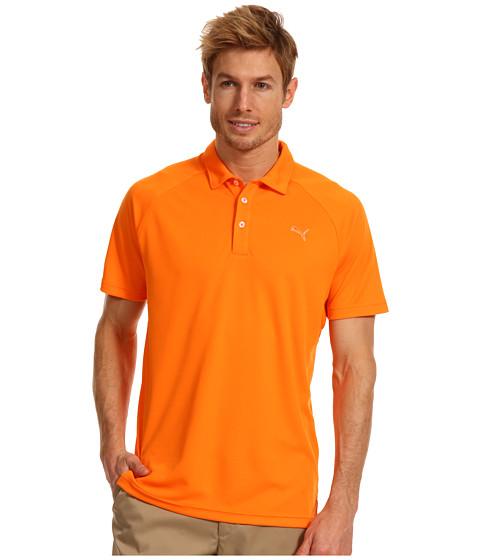 Tricouri PUMA - Golf Raglan Tech Chest Logo Polo ââ¬Ë13 - Vibrant Orange