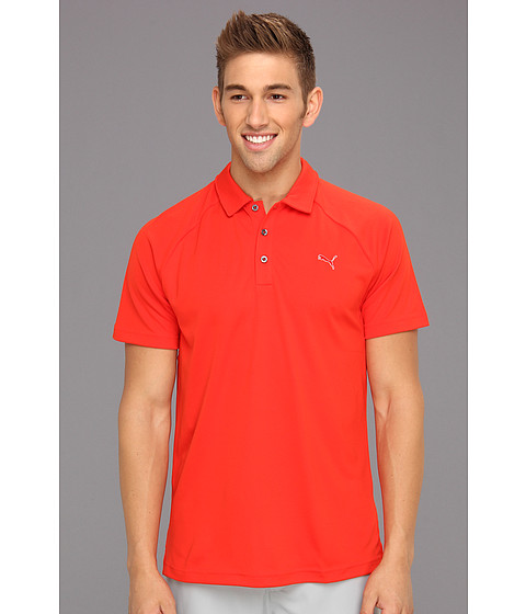 Tricouri PUMA - Golf Raglan Tech Chest Logo Polo ââ¬Ë13 - Fiery Red