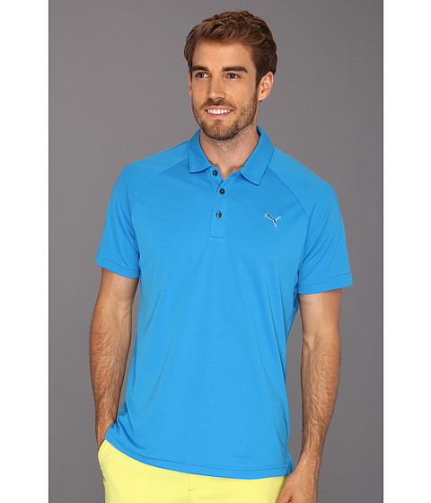 Tricouri PUMA - Golf Raglan Tech Chest Logo Polo ââ¬Ë13 - Brilliant Blue
