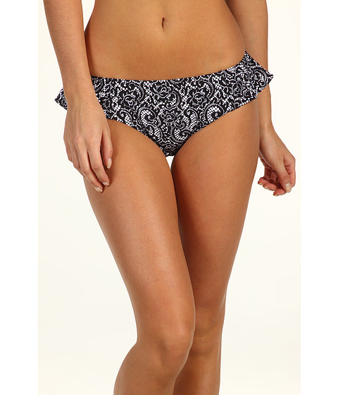 Costume de baie DKNY - Lola Lace Peplum Hipster Bikini Bottom - Black