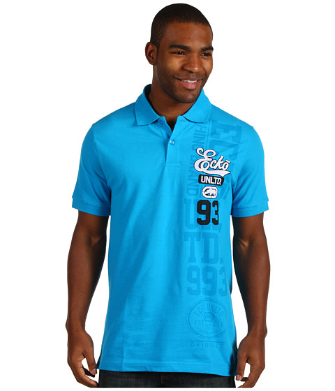 Camasi ECKO - 72 Vertical Numeral Polo - Bright Turquoise
