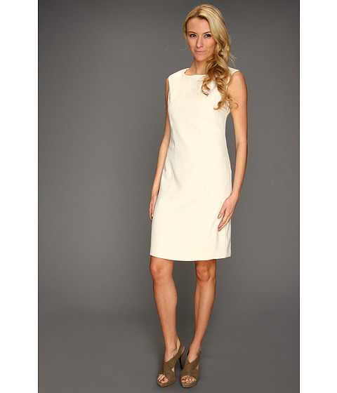 Rochii Ellen Tracy - Cap Sleeve Dress with Stitching - Vanilla