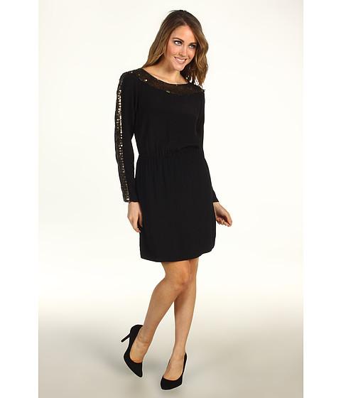 Rochii BCBGMAXAZRIA - Marcel Sequin Trim Dress - Black