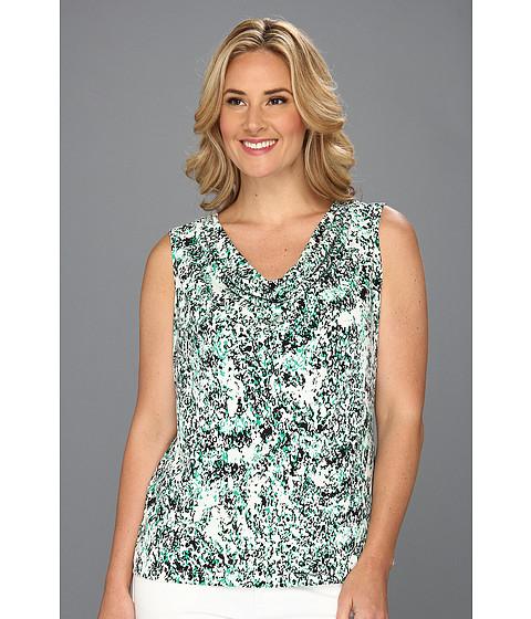 Tricouri Calvin Klein - Printed Cowl Neck Top - Emerald Multi