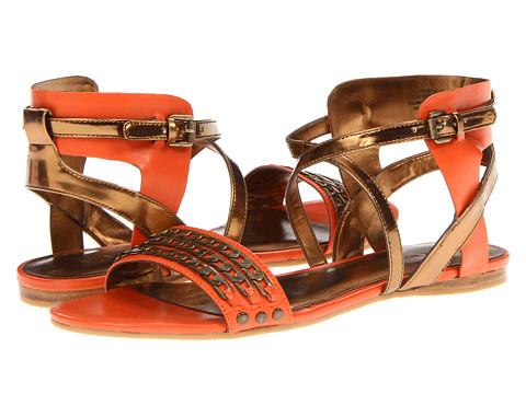 Sandale Nine West - Scat - Orange/Light Bronze Leather