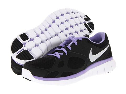 Adidasi Nike - Flex 2012 Run - Black/Medium Violet/Metallic Platinum