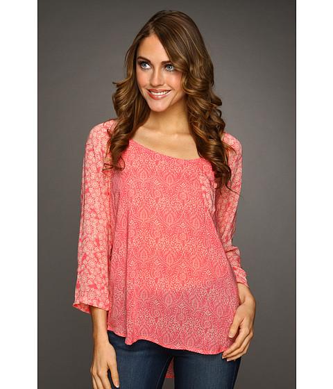 Bluze Lucky Brand - Maryam Printed Tee - Pink Multi