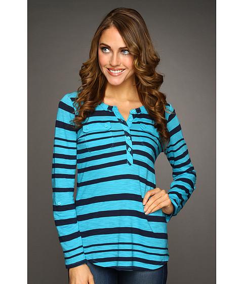 Bluze Lucky Brand - Stripe Gayle Henley - Caneel Bay/Blue Stripe
