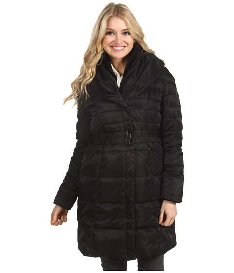Jachete Ivanka Trump - Tie Collar Belted Down Coat - Black