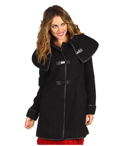 Jachete Ivanka Trump - Toggle Textured Wool Coat - Black