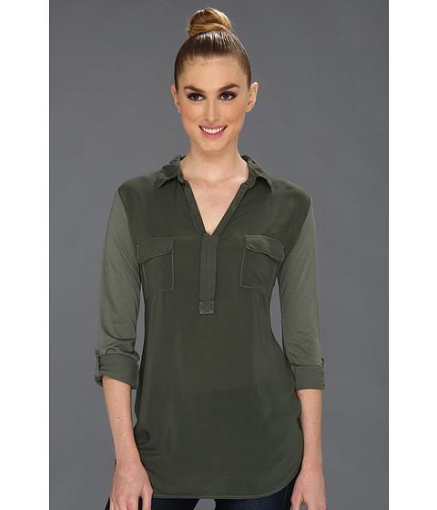 Bluze Splendid - Shirting L/S Collar Top - Military
