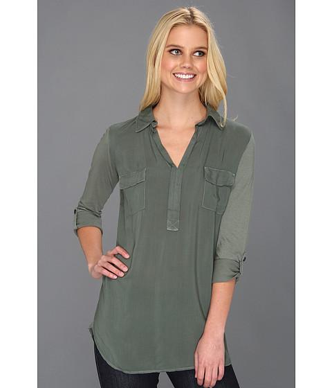 Bluze Splendid - Shirting L/S Collar Top - Camo Green