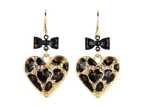 Bijuterii GUESS - Leopard/Bow Heart on Wire - Gold/Jet