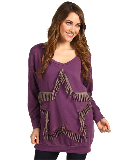 Bluze Type Z - Siliea Fringe Star Sweater - Purple