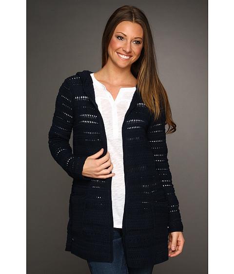 Bluze Lucky Brand - Hooded Sweater Jacket - Sky Captain Navy