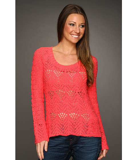 Bluze Lucky Brand - Jane Pullover Sweater - Calypso Coral