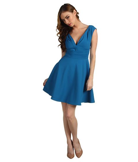 Rochii Z Spoke ZAC POSEN - Bondage Jersey Dress - Resort Aqua