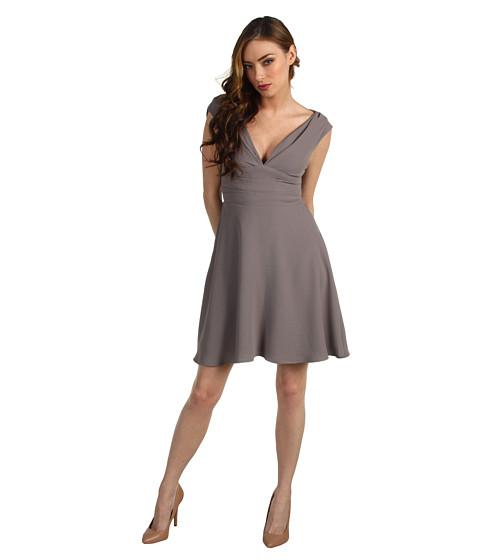 Rochii Z Spoke ZAC POSEN - Crepe Dress - Cement