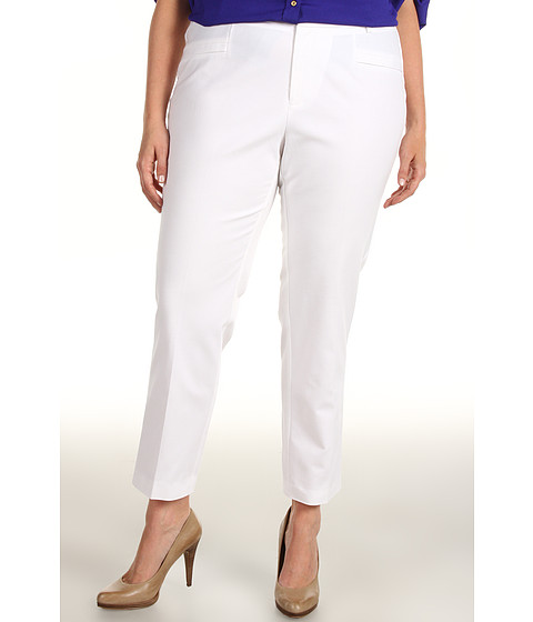 Pantaloni Calvin Klein - Plus Size Slim Pant - Soft White