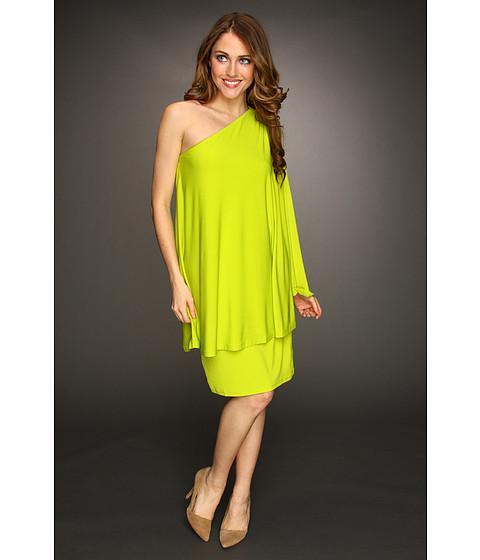 Rochii Michael Kors - One-Shoulder Asymmetrical Dress - Fresh Lime