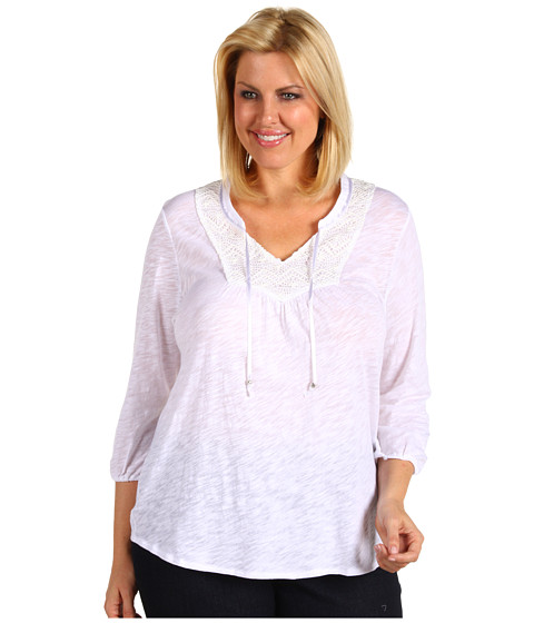 Bluze Lucky Brand - Plus Size Camille Top - White