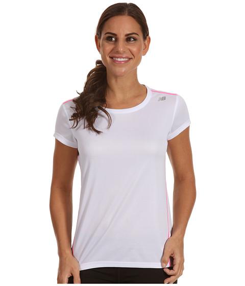 Tricouri New Balance - Get Running Short Sleeve - White
