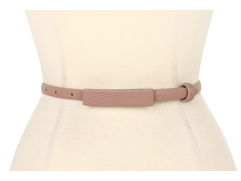 Curele Calvin Klein - Smooth Panel With Matching Lizard Covered Plaque and Loop - Sand
