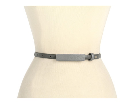 Curele Calvin Klein - Smooth Panel With Matching Lizard Covered Plaque and Loop - Grey