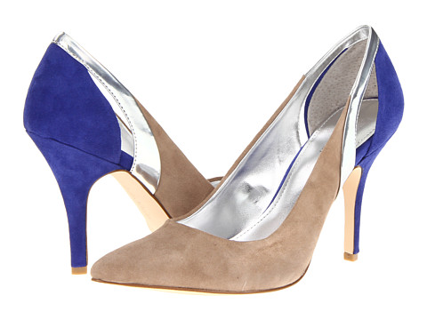 Pantofi Calvin Klein - Ninnah - Mink/Cobalt Blue/Silver Kid Suede/Metallic Mirror
