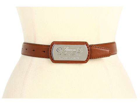 Curele LAUREN Ralph Lauren - Vachetta Belt w/ LRL Plaque - Lauren Tan