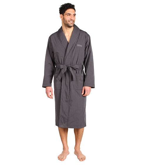 Lenjerie HUGO Hugo Boss - Shawl Collar Woven Robe - Grey