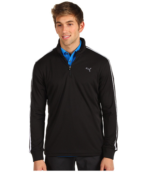 Bluze PUMA - Golf L/S 1/4 Zip Top \13 - Black