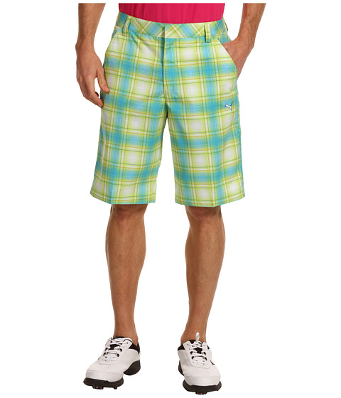 Pantaloni PUMA - Ombre Plaid Tech Short \13 - Blue Atoll/White