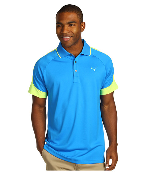 Tricouri PUMA - Golf Colorblock Jaquard Polo \13 - Directoire Blue