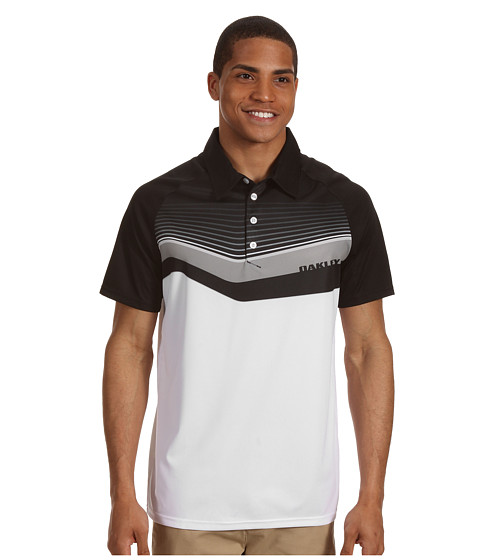 Tricouri Oakley - Center Stripe Golf Shirt - Jet Black