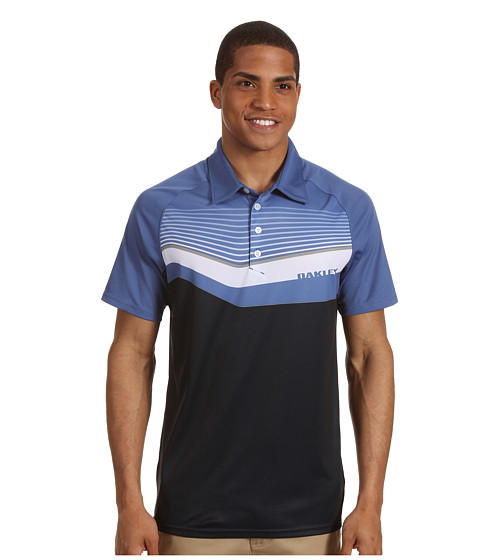 Tricouri Oakley - Center Stripe Golf Shirt - Navy Blue