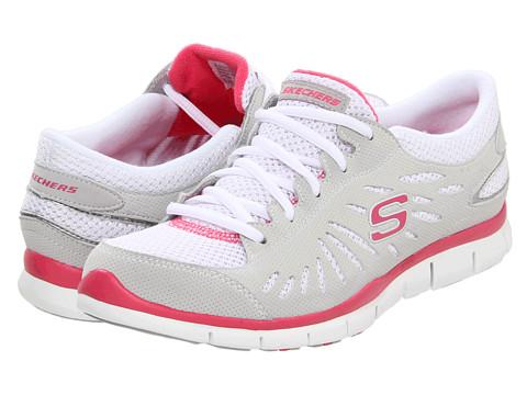 Adidasi SKECHERS - Purestreet - Light Grey/Pink
