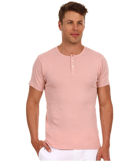 Tricouri French Connection - Basic Henley - Powder Pink