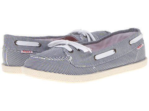 Pantofi Roxy - Ahoy Rope - White/Blue Stripe
